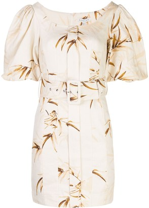 Shona Joy Belted Floral Pattern Dress