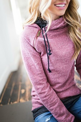 Ampersand Avenue DoubleHood Sweatshirt - Blended Berry