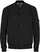 C.p. Company Black Stretch Shell Bomber Jacket