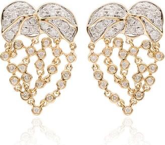 Yvonne Léon 18kt yellow gold mini Palmier diamond earrings