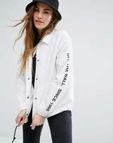 Vans Coach Jacket In White