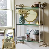 Graham and Green Otto Antique Silver Three Tier Glass Shelf Bathroom Unit