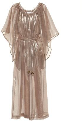 Lisa Marie Fernandez Angel Sleeve lame maxi dress