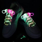 BicycleLabs LED Shoelaces Light Up Shoe Laces with 3 Modes Flash Lighting the Night for Party Hip-hop Dancing Cycling Hiking(Pink & Blue)