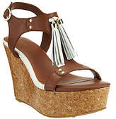G.I.L.I. got it love it G.I.L.I. Leather T-strap Tassel Wedge Sandals - Kate