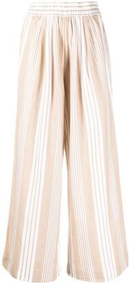 Mara Hoffman Striped Wide-Leg Trousers