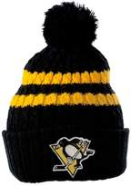 Old Glory Pittsburgh Penguins - Logo Blue Bird Adult Pom Pom Knit Hat