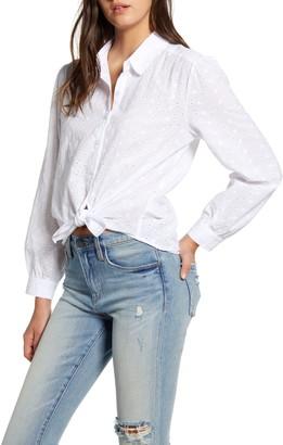 BP Eyelet Front Button Shirt