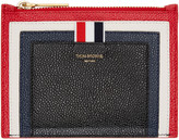 Thom Browne Tricolor Small Cricket Stripe Coin Pouch