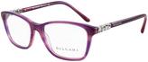 Bulgari Lilac Crystal Square Eyeglasses