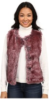 Dylan by True Grit Rock It Color Tipped Fur Vest