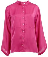 Maison Rabih Kayrouz band collar shirt - women - Polyester - 36