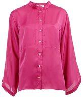 Maison Rabih Kayrouz band collar shirt - women - Polyester - 36