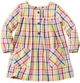 Toddler Basketweave Pleat & Pocket Tunic Dress