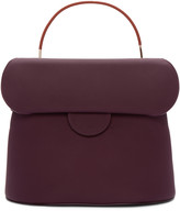 Roksanda Burgundy Leather Top Handle Bag