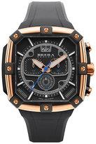 Brera 46mm Supersportivo Square Watch, Black/Rose Gold