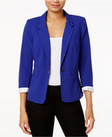 Kensie Notched-Collar One-Button Blazer