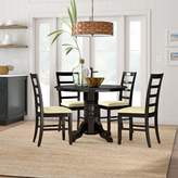 Beachcrest Home Langwater Traditional 5 Piece Wood Dining Set