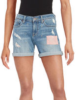 Lucky Brand Embroidered Denim Shorts