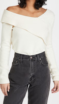 Thumbnail for your product : 525 Fold Over One Shoulder Sweater
