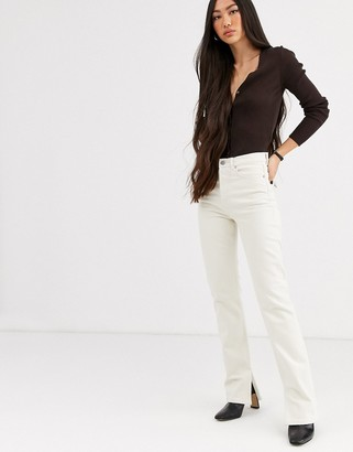 And other stories & straight leg jeans in off white