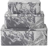 ferm LIVING Tin Boxes - Set of 3 - Grey Marble