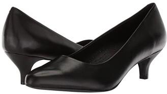 Trotters Kiera (Black Soft Leather) Women's 1-2 inch heel Shoes