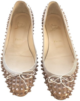 Christian Louboutin Beige Patent leather Ballet flats