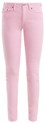 Acne Studios Climb Mid-rise Skinny-leg Jeans - Womens - Pink