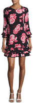 Kate Spade Rosa Floral Tiered Ruffle Shift Dress, Multicolor