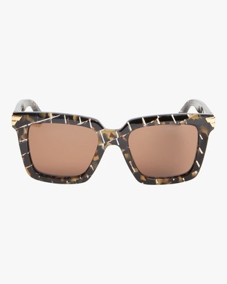 Bottega Veneta Intreccio Rectangle Sunglasses