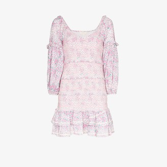 LoveShackFancy Floral print ruffle cotton dress