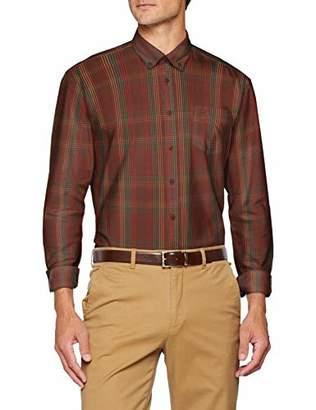 Camel Active Men's DAN B.D. 1/1 Casual Shirt, Red 43, (Size: Large)