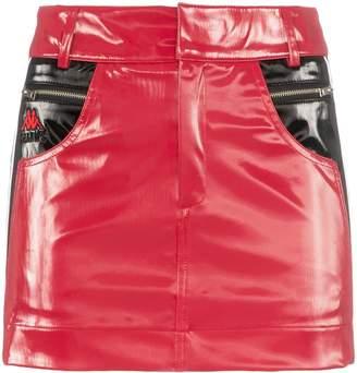 Charm's x Kappa Flame Line faux leather mini skirt