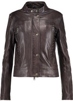 Just Cavalli Whipstitched Leather Jacket