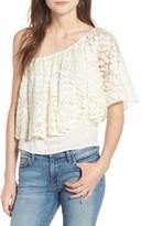 Ella Moss Women's Trello Lace One-Shoulder Top