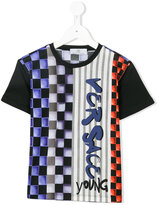 Versace geometric print T-shirt