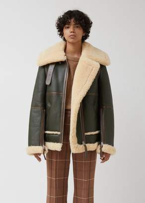 Acne Studios Long Raf Leather Jacket