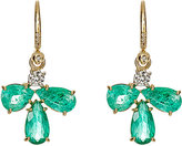 Irene Neuwirth Diamond Collection Women's White Diamond & Emerald Drop Earrings