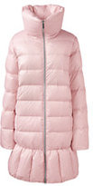 Lands' End Women's Trapeze Down Coat-Pale Pink