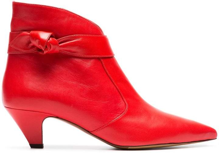 Tabitha Simmons Red Nixie 50 Leather Ankle Boots