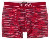 HUGO BOSS Trunk 24 Print Cotton Printed Boxer Briefs M Open Pink