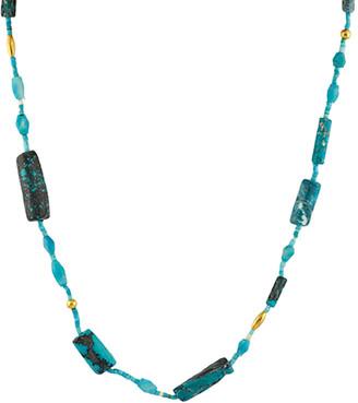 Gurhan Phoenician 24K & 18K 12.18 Ct. Tw. Turquoise Necklace