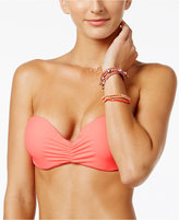 California Waves Strappy Bandeau Bikini Top