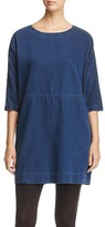 Eileen Fisher Denim Scoop Neck Dress