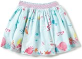 Joules Little Girls 3-6 Myla Mermaid-Print Woven Skirt