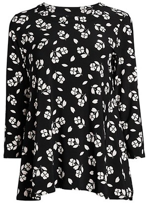 Anne Klein Floral Trapeze Top