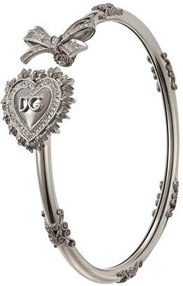 Dolce & Gabbana 18kt white gold Devotion diamond bracelet