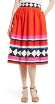 Kate Spade Women's Cotton Poplin Midi Skirt