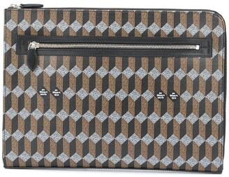 Au Départ Monogram-Print Laptop Bag